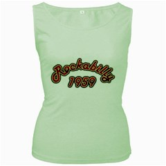 Rockabilly 1959 Women s Tank Top (green) by goodmusic