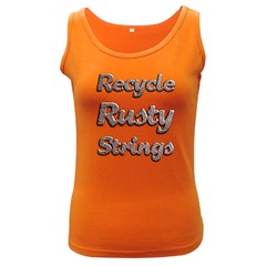 Recycle Rusty Strings Women s Tank Top (dark Colored) by goodmusic