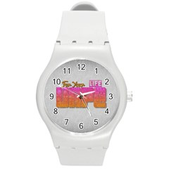 Vape For Your Life Abstract  Plastic Sport Watch (medium) by OCDesignss