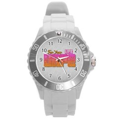 Vape For Your Life Abstract  Plastic Sport Watch (large) by OCDesignss