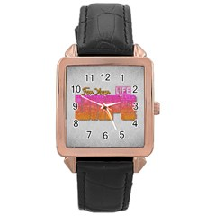 Vape For Your Life Abstract  Rose Gold Leather Watch  by OCDesignss