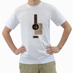 Wonderful Acoustic Guitar Parts Men s T Shirt (white)  by goodmusic