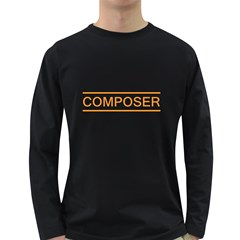 Composer Orange  Men s Long Sleeve T Shirt (dark Colored) by goodmusic