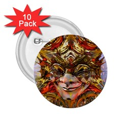 Star Clown 2 25  Button (10 Pack) by icarusismartdesigns