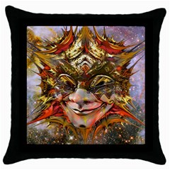 Star Clown Black Throw Pillow Case by icarusismartdesigns