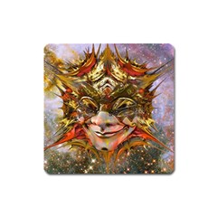 Star Clown Magnet (square) by icarusismartdesigns