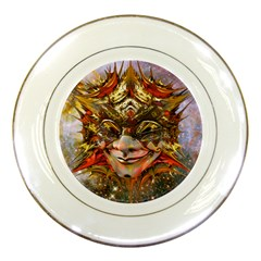 Star Clown Porcelain Display Plate by icarusismartdesigns