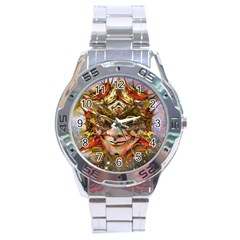 Star Clown Stainless Steel Watch by icarusismartdesigns
