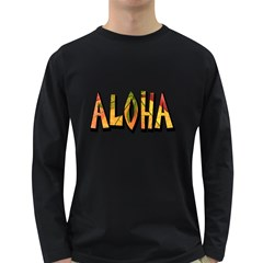 Aloha Decoration Men s Long Sleeve T Shirt (dark Colored) by goodmusic