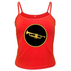 Trumpet Gold Sign Spaghetti Top (colored) by goodmusic
