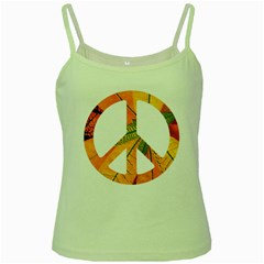 Pease,love,music Old Green Spaghetti Tank by goodmusic