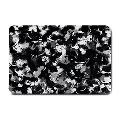 Shades Of Gray  And Black Oils #1979 Small Door Mat by Khoncepts