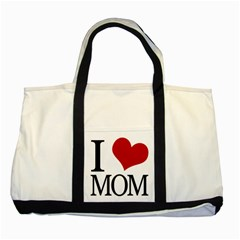 I Heart Mom Two Toned Tote Bag