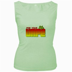 Vape For Your Life  Women s Tank Top (green) by OCDesignss