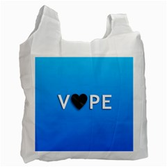 Vape Heart  White Reusable Bag (two Sides) by OCDesignss