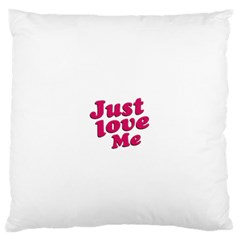 Just Love Me Text Typographic Quote Standard Flano Cushion Case (two Sides) by dflcprints