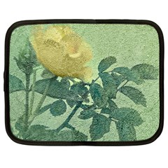 Yellow Rose Vintage Style  Netbook Sleeve (large) by dflcprints