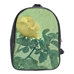 Yellow Rose Vintage Style  School Bag (xl) by dflcprints