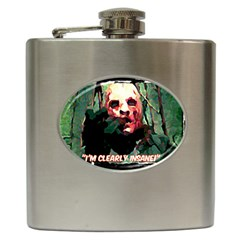 Bloody Face  Hip Flask