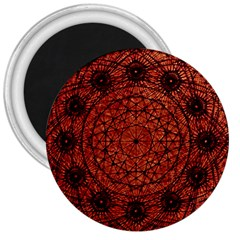 Grunge Style Geometric Mandala 3  Button Magnet by dflcprints