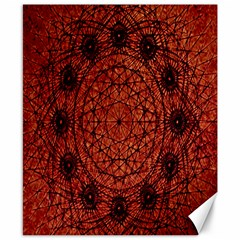 Grunge Style Geometric Mandala Canvas 8  X 10  (unframed) by dflcprints