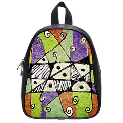 Multicolored Tribal Print Abstract Art School Bag (small) by dflcprints