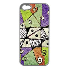 Multicolored Tribal Print Abstract Art Apple Iphone 5 Case (silver) by dflcprints