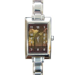 Fantasy Landscape Rectangular Italian Charm Watch by dflcprints