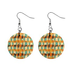 Shredded Abstract Background 1  Button Earrings