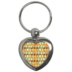Shredded Abstract Background Key Chain (heart) by LalyLauraFLM