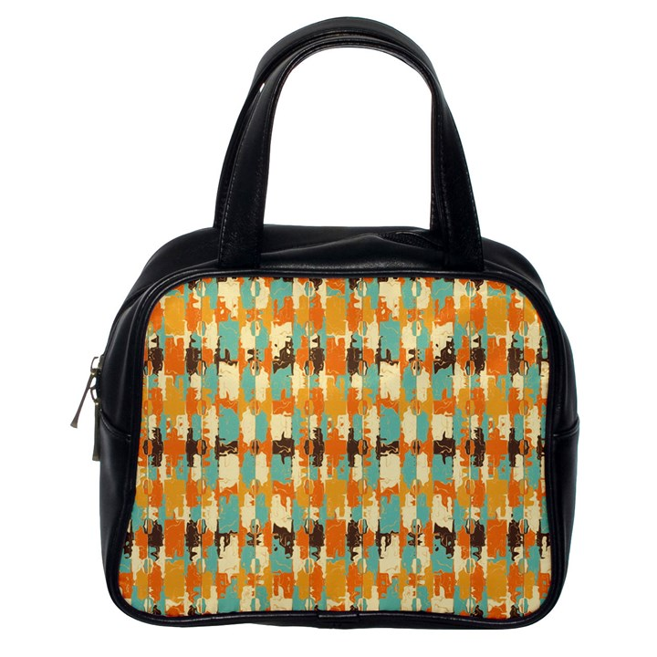 Shredded abstract background Classic Handbag (One Side)