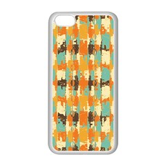 Shredded Abstract Background Apple Iphone 5c Seamless Case (white) by LalyLauraFLM