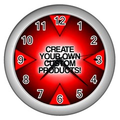 Create Your Own Custom Products And Gifts Wall Clock (silver)