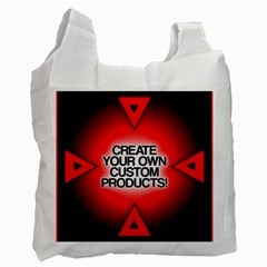Create Your Own Custom Products And Gifts White Reusable Bag (two Sides)