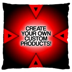 Create Your Own Custom Products And Gifts Large Cushion Case (two Sided)