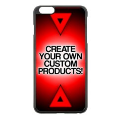 Create Your Own Custom Products And Gifts Apple Iphone 6 Plus Black Enamel Case by UniqueandCustomGifts