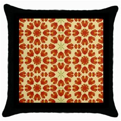 Colorful Floral Print Vector Style Black Throw Pillow Case by dflcprints