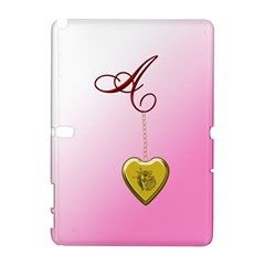 A Golden Rose Heart Locket Samsung Galaxy Note 10 1 (p600) Hardshell Case by cherestreasures