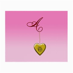 A Golden Rose Heart Locket Glasses Cloth (small)