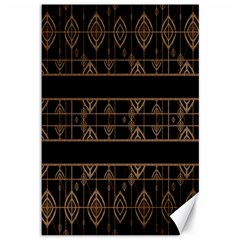 Dark Geometric Abstract Pattern Canvas 12  X 18  (unframed) by dflcprints