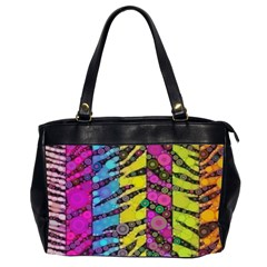 Crazy Animal Print Abstract  Oversize Office Handbag (two Sides) by OCDesignss