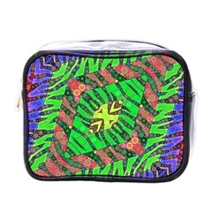 Zebra Print Abstract  Mini Travel Toiletry Bag (one Side) by OCDesignss