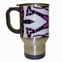Pink Black Zebra  Travel Mug (white) by OCDesignss