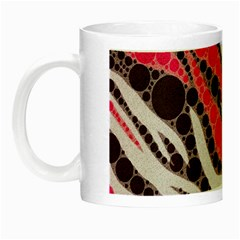 Red Zebra Bling  Glow In The Dark Mug by OCDesignss