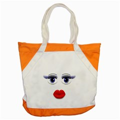 Face With Blue Eyes Accent Tote Bag
