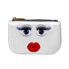 Face With Blue Eyes Mini Coin Purse