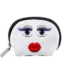 Face With Blue Eyes Accessory Pouch (small)