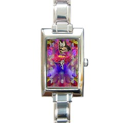Journey Home Rectangular Italian Charm Watch by icarusismartdesigns
