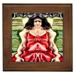 Cubist Woman Framed Ceramic Tile by icarusismartdesigns