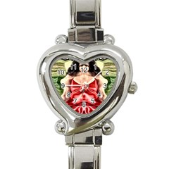 Cubist Woman Heart Italian Charm Watch  by icarusismartdesigns